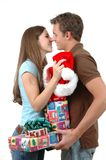 Exchanging Gifts Royalty Free Stock Photos