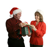 Exchanging Gifts Stock Photography