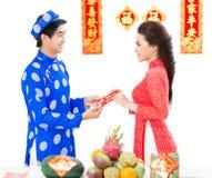 Exchanging greetings Stock Photo