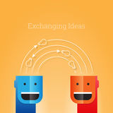 Exchanging Ideas stock illustration
