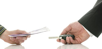 Free Exchanging Money For Car Keys Stock Photo - 30239980