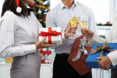 Exchanging presents Stock Images