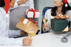 Exchanging presents Royalty Free Stock Image