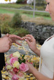Exchanging rings Stock Photo
