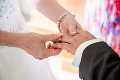 Exchanging Rings Royalty Free Stock Image