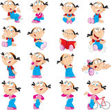 funny girl in various poses Stock Image