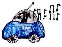 Excitador de carro feliz ilustração royalty free