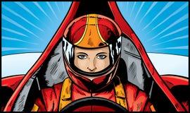 Excitador do carro de corridas ilustração royalty free