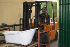 Excitador do Forklift imagens de stock