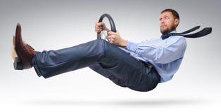 Excitador do homem de negócios Foto de Stock Royalty Free
