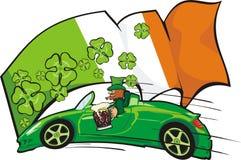 Excitador do Leprechaun no fundo do f irlandês ilustração royalty free