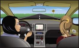 Excitador e passageiro ilustração stock