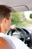 Excitador em sua carro ou camionete Imagem de Stock
