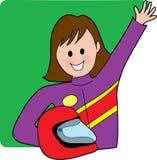 Excitador fêmea do carro de corridas ilustração royalty free