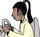Excitador fêmea latino-americano ilustração do vetor