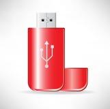 Excitador instantâneo vermelho ilustração stock