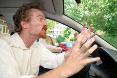 Excitador irritado Fotos de Stock Royalty Free