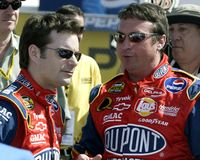 Excitador Jeff Gordon de NASCAR imagem de stock