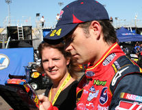 Excitador Jeff Gordon do copo de NASCAR Fotografia de Stock