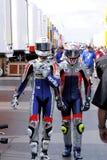 Excitadores de MotoGP imagens de stock