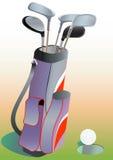 Excitadores do golfe no saco. ilustração do vetor