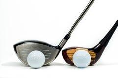 Excitadores velhos e novos ao lado de um outros do golfe Imagem de Stock Royalty Free