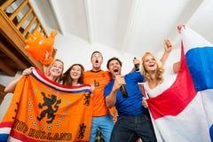 Excitamento dos fãs de esportes Imagens de Stock Royalty Free
