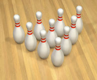 Excitation de bowling illustration stock