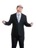 Excite o homem de negócios imagem de stock royalty free
