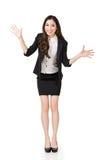 Excited азиатская бизнес-леди Стоковые Изображения RF