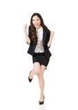 Excited азиатская бизнес-леди Стоковое Изображение