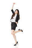 Excited азиатская бизнес-леди Стоковое фото RF