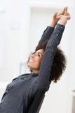 Excited Афро-американская коммерсантка Стоковые Фото