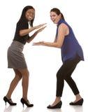 2 excited бизнес-леди Стоковые Изображения RF