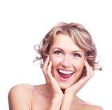 excited женщина стоковое фото rf