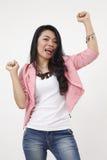 Excited женщина malay стоковые фотографии rf