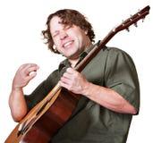 Excited игрок гитары Стоковая Фотография RF