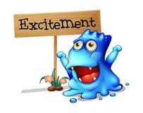 Excited изверг Стоковая Фотография RF