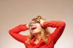 Excited кричащая девушка Стоковая Фотография RF