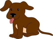 Excited маленькая иллюстрация щенка Стоковые Изображения RF