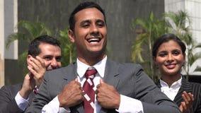 Excited политик или выбранное должностное лицо на ралли кампании акции видеоматериалы