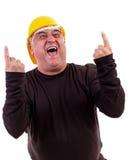 Excited работник кричащий утехи Стоковое Фото