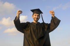 excited студент-выпускник Стоковое Изображение