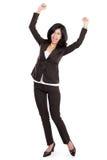 Excited счастливая азиатская бизнес-леди Стоковые Изображения