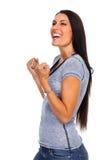 excited счастливая женщина Стоковое Фото