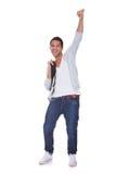 Excited человек студента Стоковое Изображение RF
