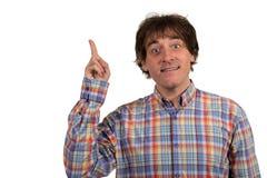 Excited человек указывая отличная идея Стоковое фото RF