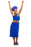 Excited южно-африканская женщина стоковое фото rf