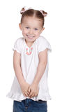 Excited. An isolation of a child that is excited and smiling Royalty Free Stock Image