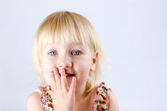 Excited 2 years old girl Royalty Free Stock Images